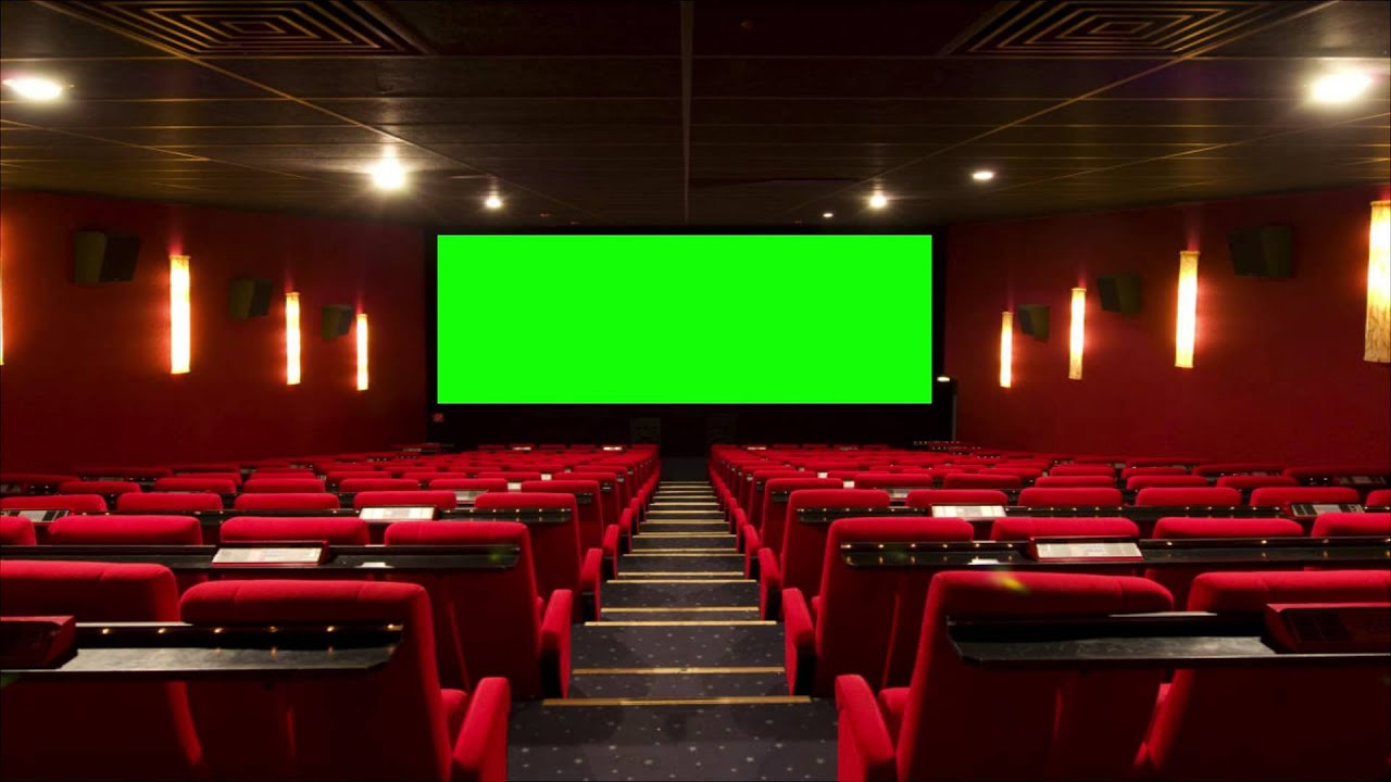 Cinema movie theater movie house with green screen 2 for Wallpaper home theater