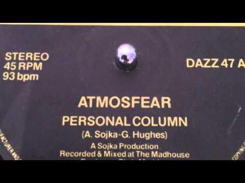 """ATMOSFEAR """"PERSONAL COLUMN'"""
