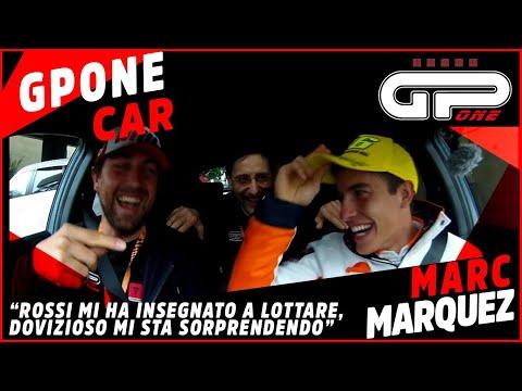 Marc Marquez nella GPOnecar: Rossi mi ha insegnato a lottare ma Dovizioso mi sta sorprendendo