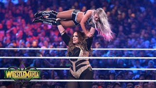 Nia Jax tosses Alexa Bliss around the ring like a rag doll: WrestleMania 34 (WWE Network Exclusive)