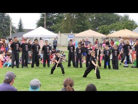 2013 Marysville Strawberry Festival Kid's Day Demonstration ~ KungFuNorthwest