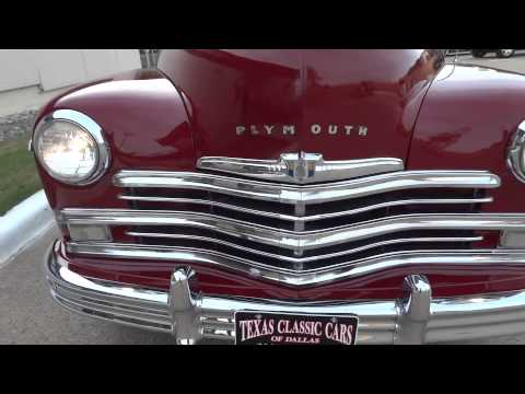 1949 Plymouth Sedan Classic Car in action