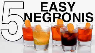 5 Easy Negroni Variations!