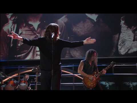 """Metallica and Ozzy Osbourne During Rock and Roll Hall of Fame Induction """" Iron Man / Paranoid """""""
