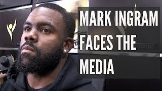 Mark Ingram faces the media at Saints minicamp
