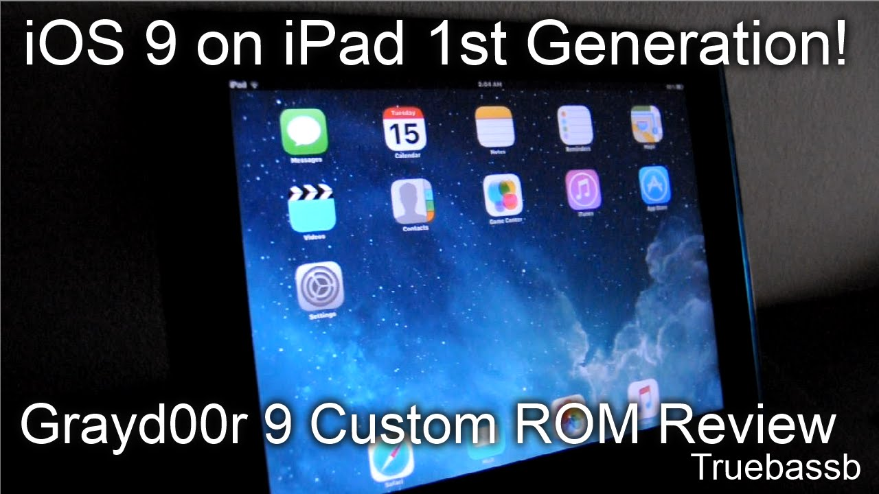 iOS 9 on iPad 1st Gen? Grayd00r 9 Custom ROM Review