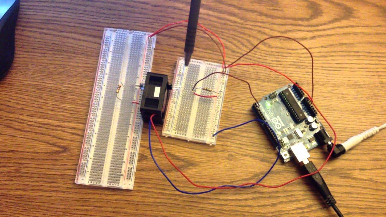 Arduino Based Optical Tachometer Youtube Schematic