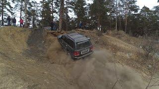 И снова жёсткая горочка... Lexus LX 470 & Nissan Safari & Suzuki Escudo