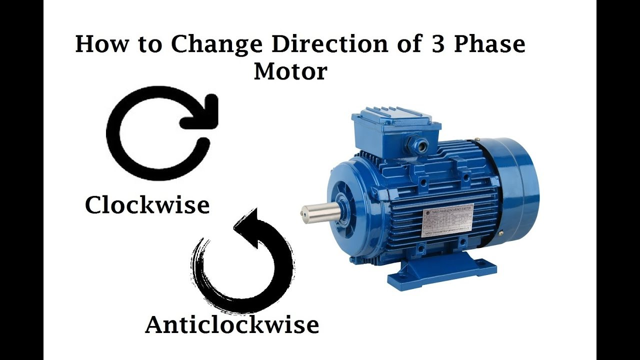 How to change direction of 3 phase motor urdu hindi for How to change a 3 phase motor to single phase