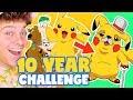 10 Year Challenge - CARTOON VERSION!! Drawing toturial   HelloRasmus