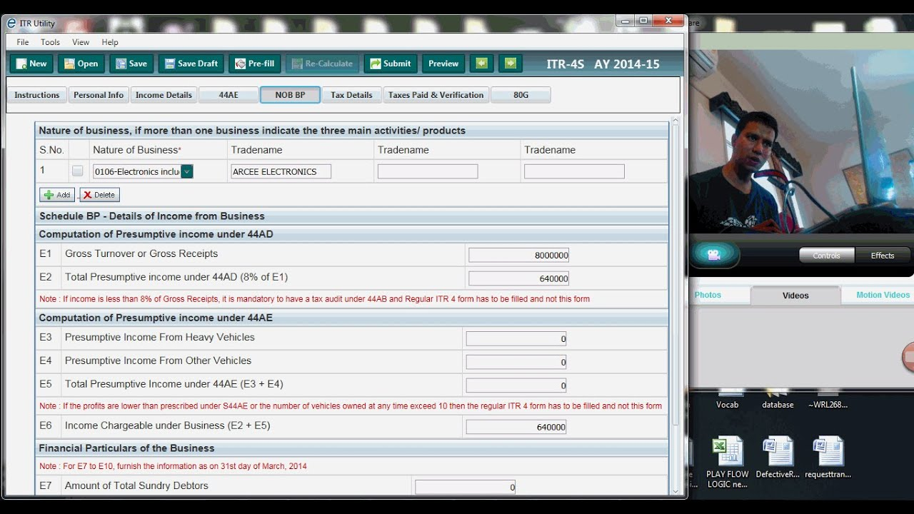 1261 (Presumptive Tax) Can I Presume Business Income Even When Actual  Business Income Is Far More ?   YouTube