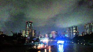 2011年天神祭 船渡御 都島橋の様子
