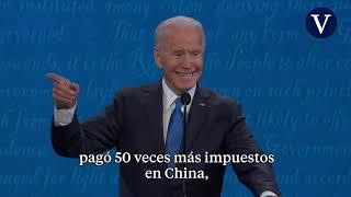 Trump y Biden se acusan de corrupción en un vivo pero cívico debate final