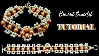 Bracelet making tutorial.  Beaded bracelet . How to make beads bracelet