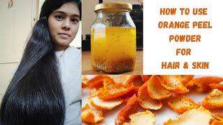 DIY Orange Oil for Hair Skin in தம ழ How to make Orange Peel Hair mask Conditioner Shampoo