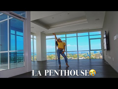 MY NEW EMPTY APARTMENT TOUR! LA PENTHOUSE!! | jasmeannnn