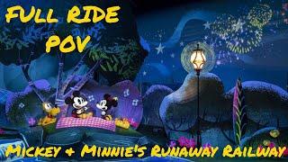 Mickey & Minnie's Runaway Railway: FULL RIDE POV