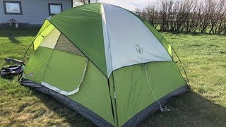 Coleman Sundome 4-Person Tent Set Up & Review