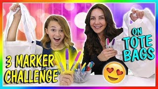 3 MARKER TOTE BAG CHALLENGE | We Are The Davises