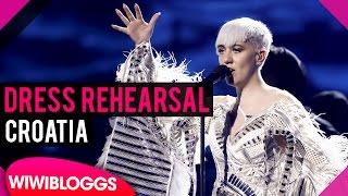 "Croatia: Nina Kraljić ""Lighthouse"" semi-final 1 dress rehearsal @ eurovision 2016"
