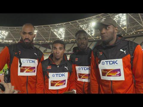 WCH 2017 London– Team Trinidad & Tobago 4X400 Metres relay Gold