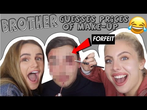 BROTHER GUESSES MAKE-UP PRICES & GIVEAWAY! | SYD AND ELL