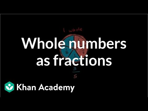Whole Numbers As Fractions | Fractions | 3rd Grade | Khan Academy