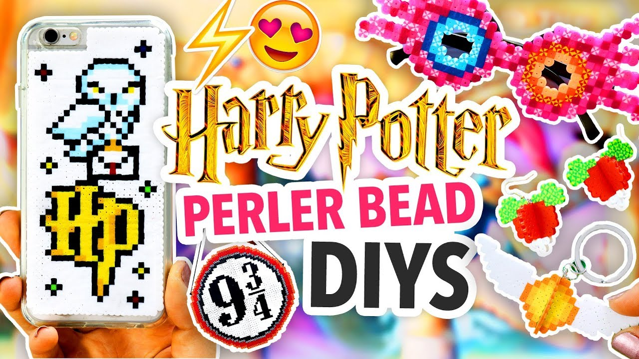 DIY HARRY POTTER PERLER BEAD CRAFTS | @karenkavett