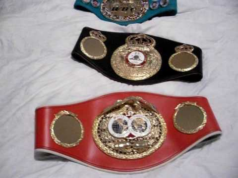 WBC,WBA,IBF WORLD TITLE BOXING BELTS