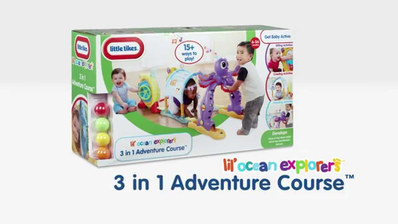 Little Tikes Lil\' Ocean Explorers 3 in 1 Adventure Course - YouTube