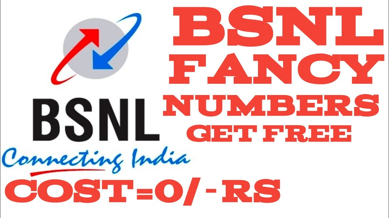 BSNL fancy Numbers get free cost =0/-Rs