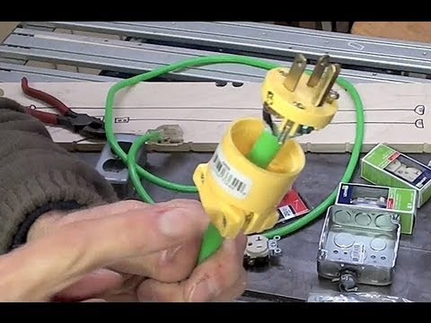 1 of 3 diy extension cords getting the most bang for your buck rh youtube com wiring diagram 220v extension cord 3 Wire Plug Wiring Diagram