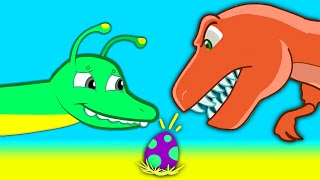 Mystery Dinosaur Egg! Find the egg's dinosaur mother! Groovy The Martian episodes cartoon for kids!