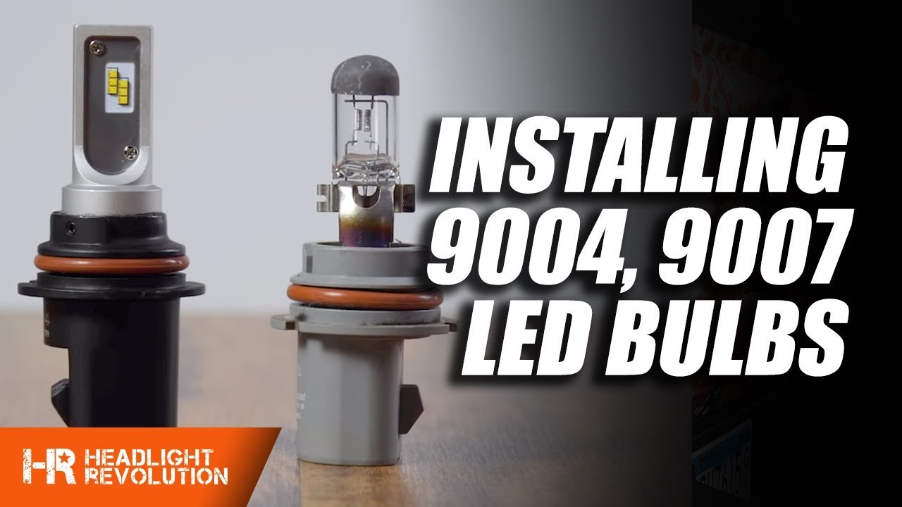how to install any led 9004 or 9007 headlight bulb tips and tricks  [ 1280 x 720 Pixel ]