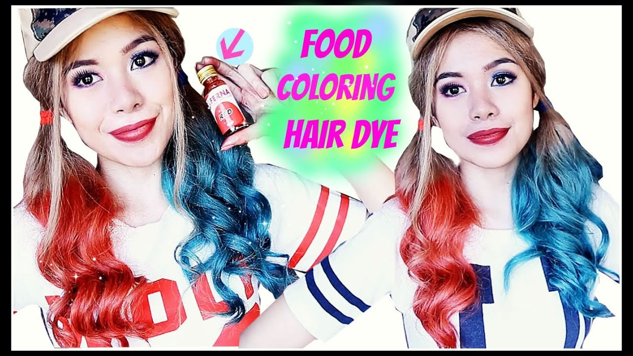 How To Temporary Dye Your Hair Using Food Coloring Harley Quinn