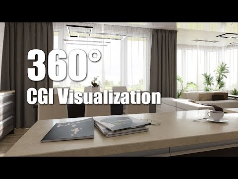 360º CGI Panorama - Apartment 17 - Living Room - v.1