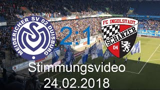 Stimmungsvideo MSV Duisburg - FC Ingolstadt (2:1) |24.02.2018| SLAPSTICK TOR DES JAHRES !!! 😂
