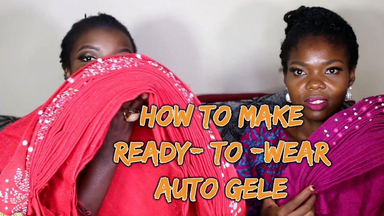 24e5b5051f14 Step by step tutorial on how to make ready to wear auto gele - YouTube