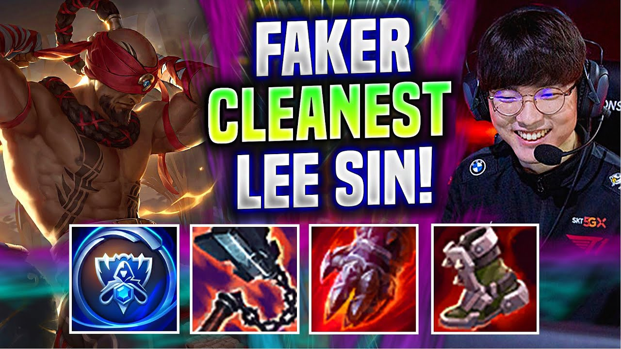 FAKER IS SUPER CLEAN WITH LEE SIN! - T1 Faker Plays Lee Sin Jungle vs Xin Zhao!   Worlds Bootcamp