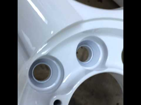 Покраска дисков белый глянец