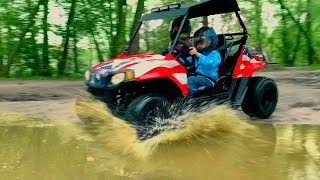 Den and test drive a new buggy for kids