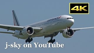 [4K] Air France Boeing 777-328/ER [F-GZNC] at Tokyo Narita Airport [成田空港] [FDR-AX1]