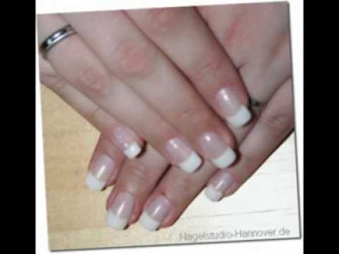 French Nails Nagelstudio Top Braun Hannover - YouTube
