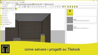 Come salvare i progetti su Tilelook