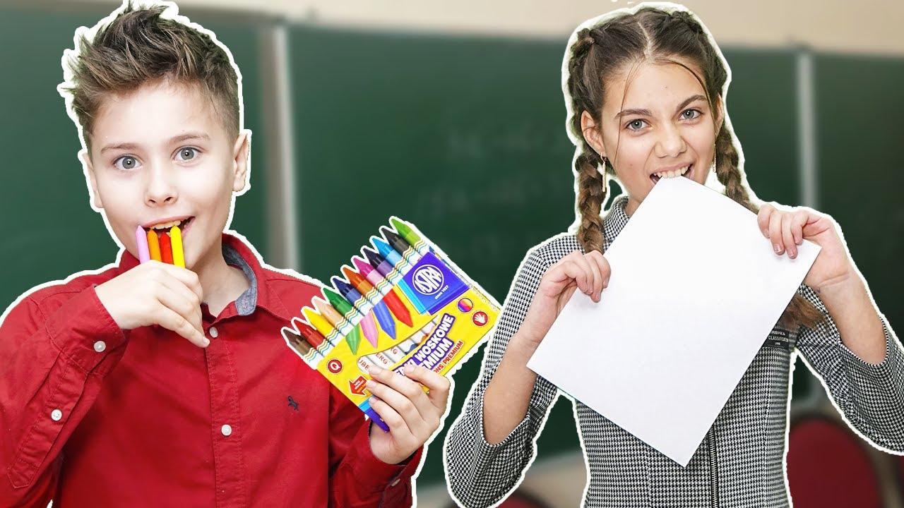 10 способов как ПРОНЕСТИ СЛАДОСТИ в школу на урок Фаст Сергей