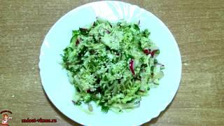 Весенний салат. Как приготовить правильно салат из свежей капусты, редиски и огурца