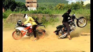 BULLET 350 VS KTM RC 200 TOCHAN TEST