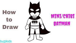 Mini Batman Drawing - Batman Drawing Chibi