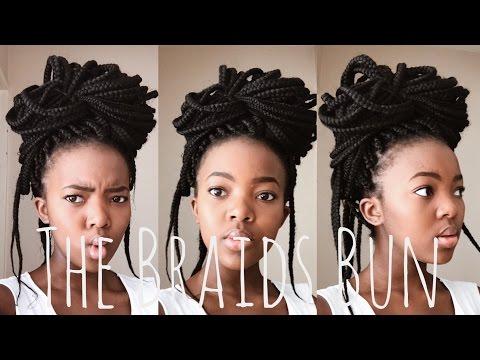 The Braids Bun Tutorial   South African YouTuber