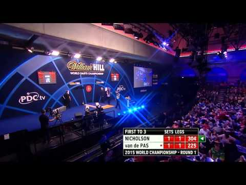 PDC World Darts Championship 2015 - First Round - Nicholson vs van de Pas